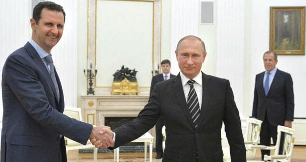 الأسد وبوتين يشددان على الحل السياسي والعودة إلى الشعب السوري