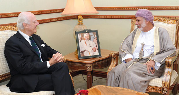 ابن علوي يتبادل مع دي ميستورا وجهات النظر حول سوريا