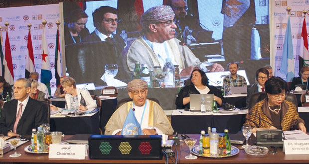 افتتاح الدورة الثانية والستين لاجتماعات منظمة الصحة العالمية لإقليم شرق المتوسط