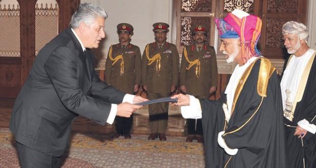 جلالة السلطان يتقبل أوراق اعتماد 6 سفراء