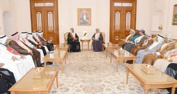 رئيس مجلس الدولة يستقبل الوفد الخليجي المشارك في احتفالات السلطنة بالعيد الوطني