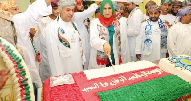 المستشفى السلطاني يحتفل بالعيد الوطني الخامس والأربعين المجيد