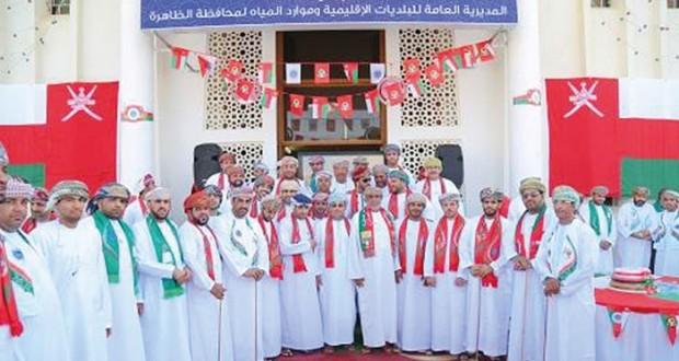 بلديات الظاهرة تحتفل بالعيد الوطني الخامس والأربعين المجيد