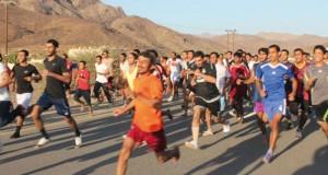 احتفالا بالعيد الوطني الـ45 المجيد سباق للجري ببلدة مسكن بولاية عبري