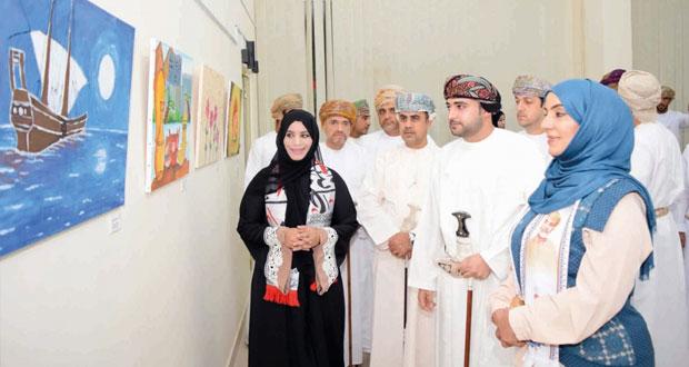 افتتاح معرض مسابقة الطفل الخليجي المبدع للفن التشكيلي وإعلان نتائج الفائزين