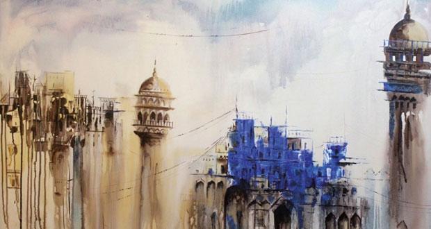 """معرض """"الجمال والتناغم"""" يقدم ثلاثين عملا فنيا ًيمزج الفن التجريدي بالخط العربي الرمزي"""