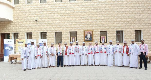المؤسسة العمانية للصحافة والطباعة والنشر والتوزيع تحتفل بالعيد الوطني الخامس والأربعين المجيد
