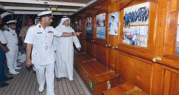 سفينة البحرية السلطانية العمانية (شباب عمان الثانية) تختتم زيارتها لدولة قطر