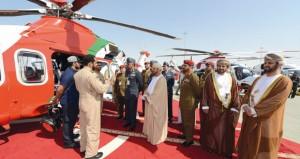 الوزير المسؤول عن شؤون الدفاع يشارك في افتتاح معرض دبي للطيران