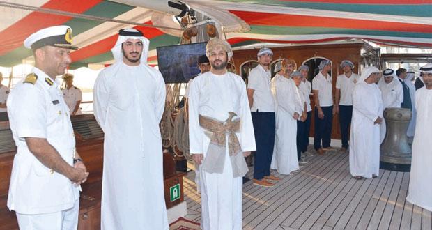 سفينة البحرية السلطانية العمانية شباب عمان الثانية تختتم زيارتها لدولة الإمارت العربية المتحدة