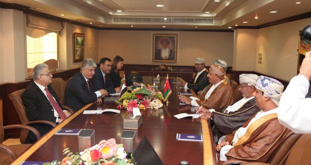 وزيرا القوى العاملة والزراعة يستقبلان رئيس مجلس إدارة هيئة التقاعد الفلسطينية