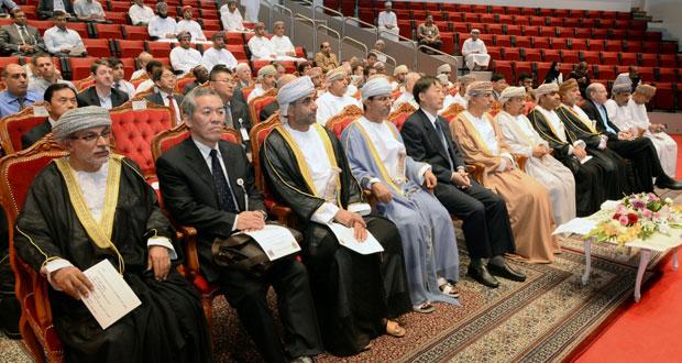 افتتاح المؤتمر الدولي الخامس لمصبات الاودية والانهار والسواحل بجامعة السلطان قابوس