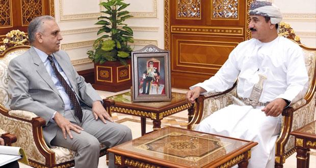وزير المكتب السلطاني والأمين العام بوزارة الدفاع يستقبلان نائب مستشار الأمن القومي الهندي