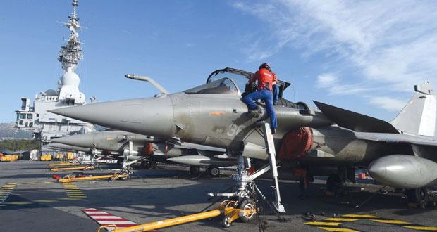 غارات روسية فرنسية تحصد العشرات من داعش في الرقة