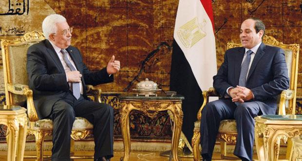 عباس يبحث مع نظيره المصري تطورات الأوضاع في فلسطين والمنطقة
