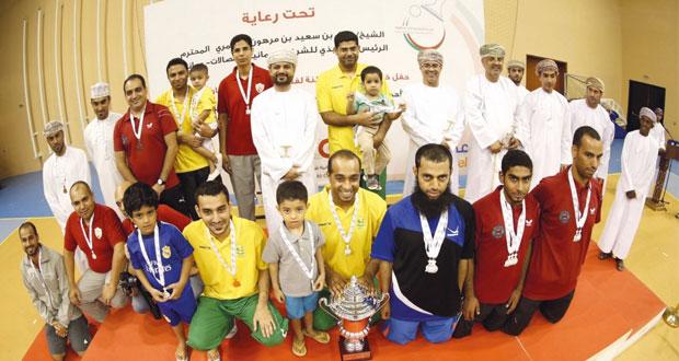 السيب والرستاق يمثلان السلطنة في بطولة الأندية الخليجية لكرة الطاولة