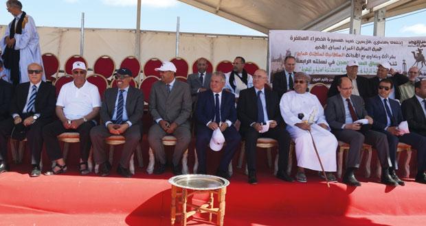 ختام مهرجان سباقات الهجن بمدينة العيون المغربية بمشاركة الهجانة السلطانية