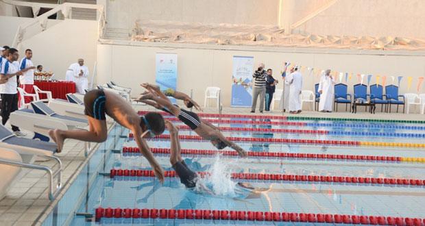 إثارة وقوة تشهدها منافسات بطولة السلطنة الرابعة لمراكز تدريب السباحة