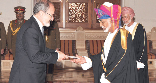جلالة السلطان يتقبل أوراق اعتماد 7 سفراء