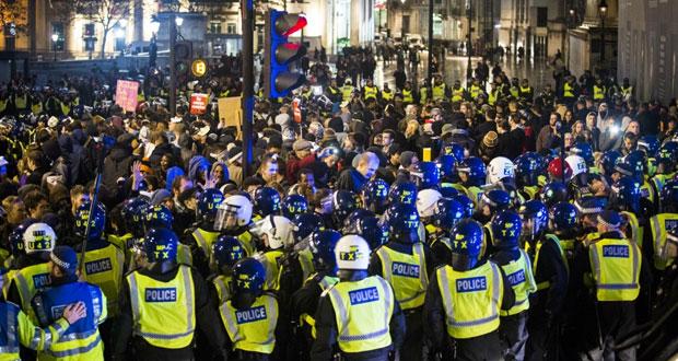 لندن توقف 28 شخصا إثر أعمال عنف في تظاهرة مناهضة للرأسمالية