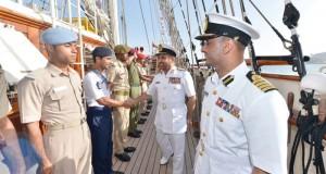 سفينة البحرية السلطانية العمانية ( شباب عمان الثانية ) تنهي رحلتها الدولية الثانية ( جسر الصداقة العمانية الهندية 2015م)