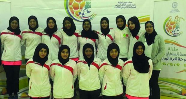 انطلاق بطولة كرة اليد للفتيات بجامعة السلطان قابوس