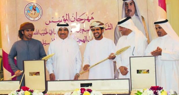 أبناء السلطنة يحتفلون بميدان الشحانية بدولة قطر