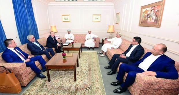 أمين عام وزارة الخارجية يستقبل المدير التنفيذي لصندوق اعادة الاعمار الاوزبكي