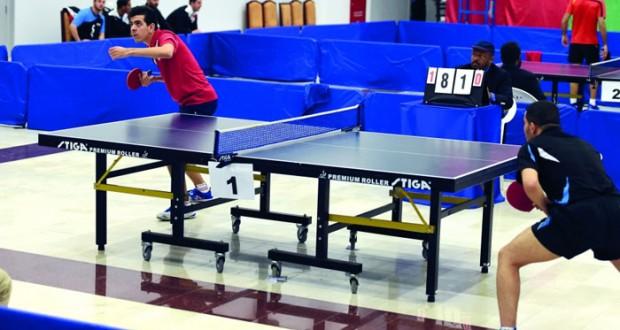 منافسة قوية وتحد كبير تشهدهما البطولة العربية الجامعية لكرة الطاولة بالمصنعة