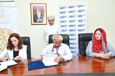 مكتب حفظ البيئة والبنك الوطني العماني يوقعان مذكرة تعاون لتمويل دراسة مشروع انتشار الوعل العربي