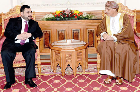 فهد بن محمود يستقبل الأمين العام لمجلس الوزراء بدولة قطر ووزير الزراعة العراقي