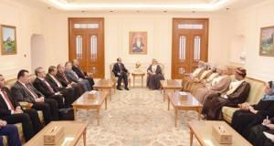 رئيس مجلس الدولة يستقبل رئيس مجلس النواب العراقي