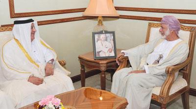 الوزير المسؤول عن الشؤون الخارجية يستقبل أمين عام مجلس الوزراء القطري