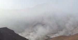 الدخان مستمر بمردم وادي بني هني بعد حريق الأربعاء