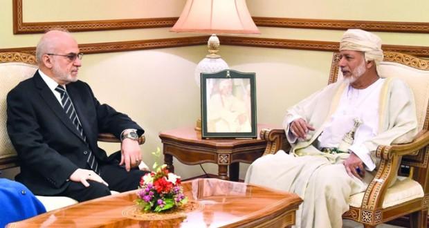 الوزير المسؤول عن الشؤون الخارجية يستقبل وزير خارجية جمهورية العراق