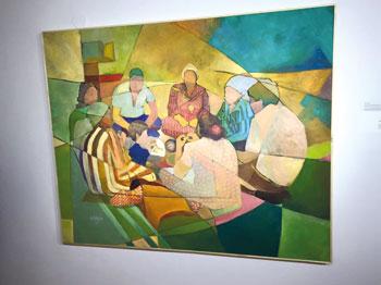 """""""تقاطع"""" .. معرض فني لستّة تشكيليين فلسطيينين"""