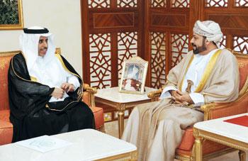 حمود بن فيصل والشريقي يستقبلان أمين عام مجلس وزراء الداخلية العرب