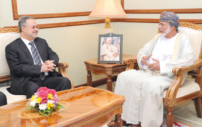 يوسف بن علوي يستقبل وزير الخارجية اليمني