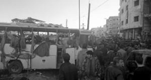 سوريا: المسلحون يواكبون (جنيف) بـ3 تفجيرات إرهابية توقع 45 قتيلا و110 جرحى