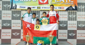 شهاب الحبسي يتوج بلقب بطولة دبي المفتوحة للكارتينج