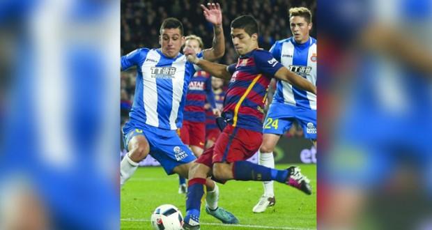 برشلونة يعاقب اسبانيول بالأربعة في دربي كاتالونيا