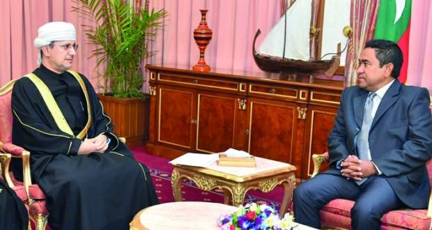 رسالة من جلالة السلطان لرئيس المالديف