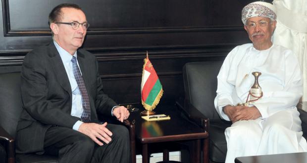 الرواس يستقبل نائب الأمين العام للأمم المتحدة للشؤون السياسية