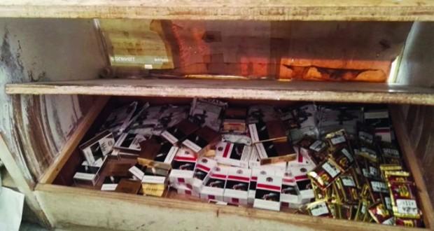 ضبط 726 عبوة من التبغ الممضوغ والسجائر المحظورة بجنوب الشـرقية