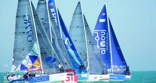 فريق إي.أف.جي يتربع على صدارة سباق الطواف العربي لإبحار الشراعي