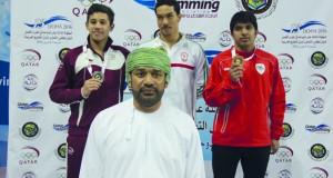 منتخبنا للسباحة ينجح بجدارة في إثبات وجوده في منافسات البطولة الخليجية للمجرى القصير بالدوحة