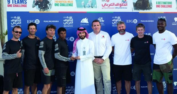 """انطلاق أصعب وأطول مراحل سباق الطواف العربي للإبحار الشراعي """" الدوحة ـ خصب """""""