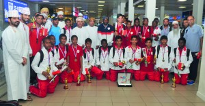 استقبال منتخبنا الوطني لبراعم كرة القدم