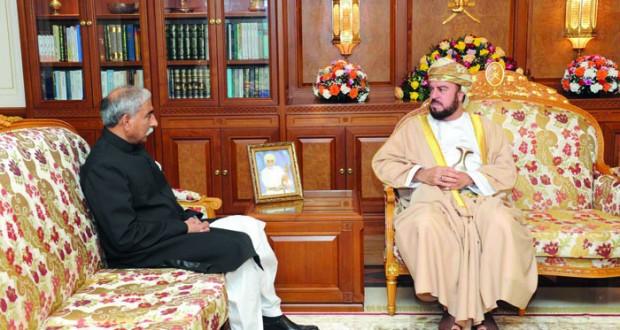 نيابة عن جلالة السلطان أسعد بن طارق يودع السفير الباكستاني