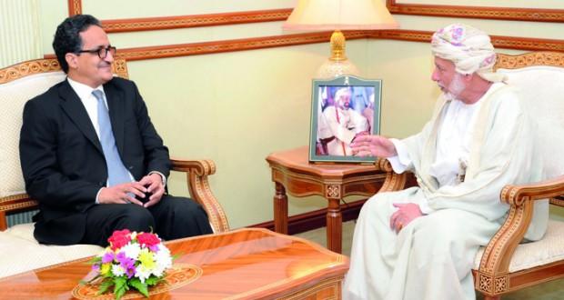 الوزير المسؤول عن الشؤون الخارجية يستقبل نظيره الموريتاني